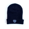 CHARLIE HUSTLE | KC HEART BEANIE - BLACK