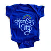 AMPERSAND | RETRO KANSAS CITY ONESIE - NAVY