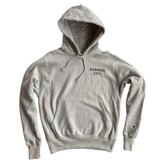 BELLBOY | REVERSE WEAVE SIMPLE KC HOODIE - GREY