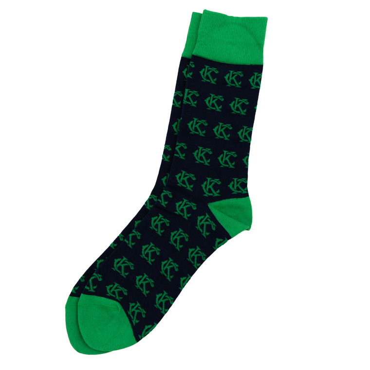 SOCK 101 | THE MONARCH | NAVY & GREEN