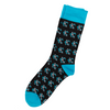 SOCK 101 | THE MONARCH | Navy & Turquoise