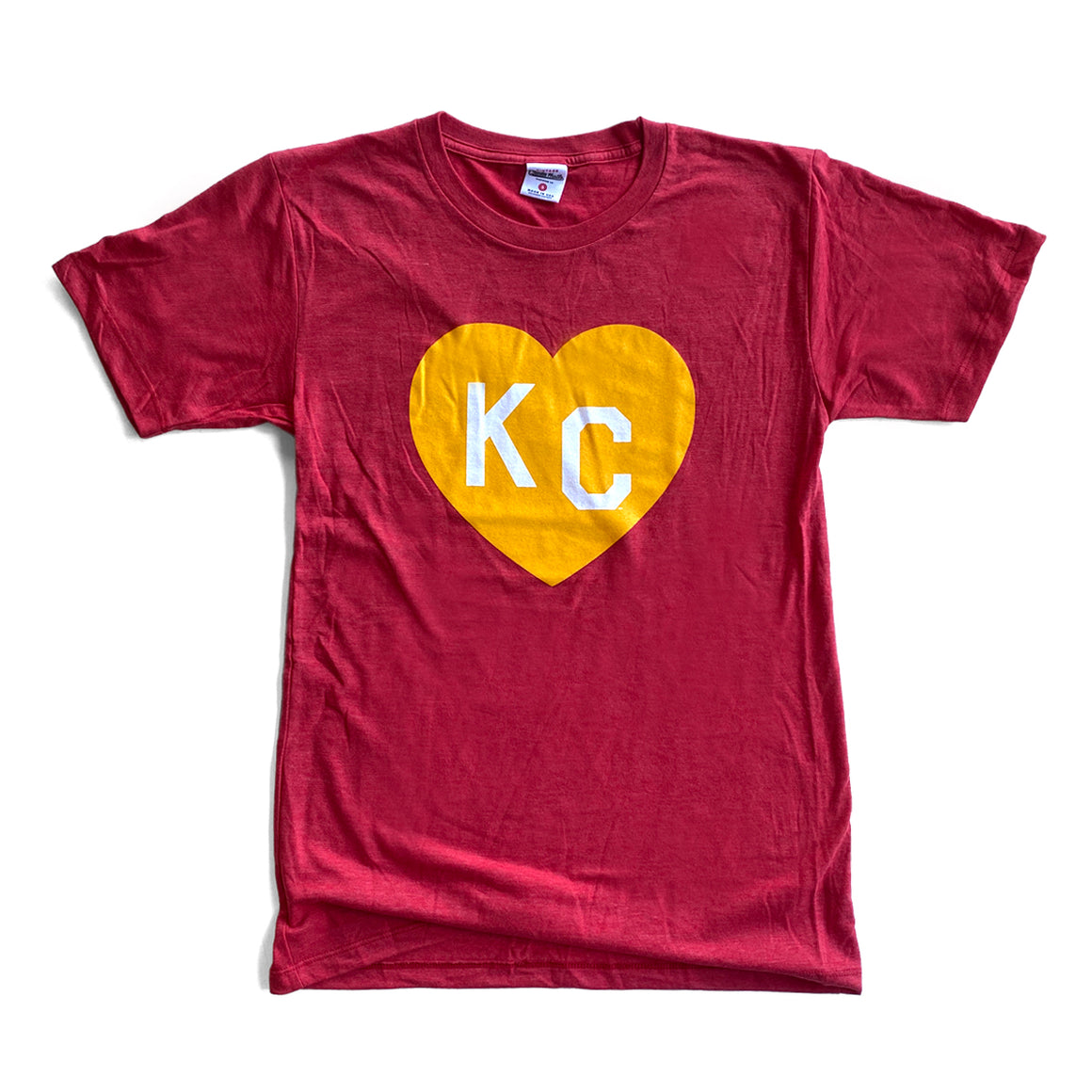CHARLIE HUSTLE | KC HEART T-SHIRT - RED