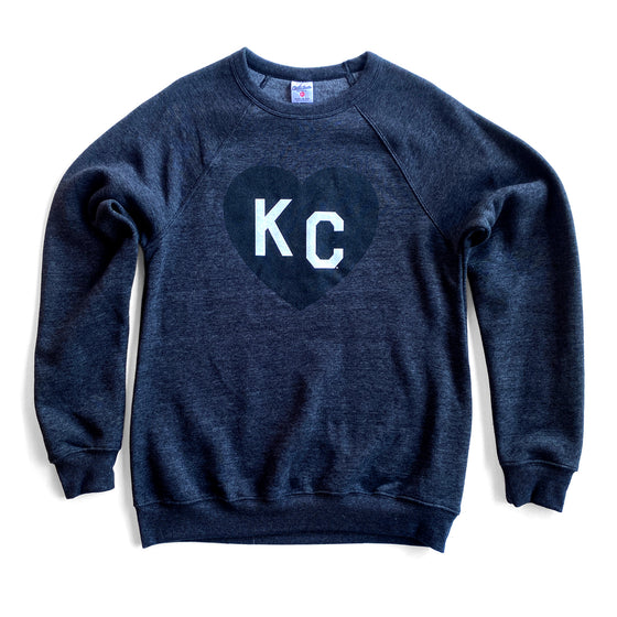 CHARLIE HUSTLE | KC HEART SWEATSHIRT - BLACK