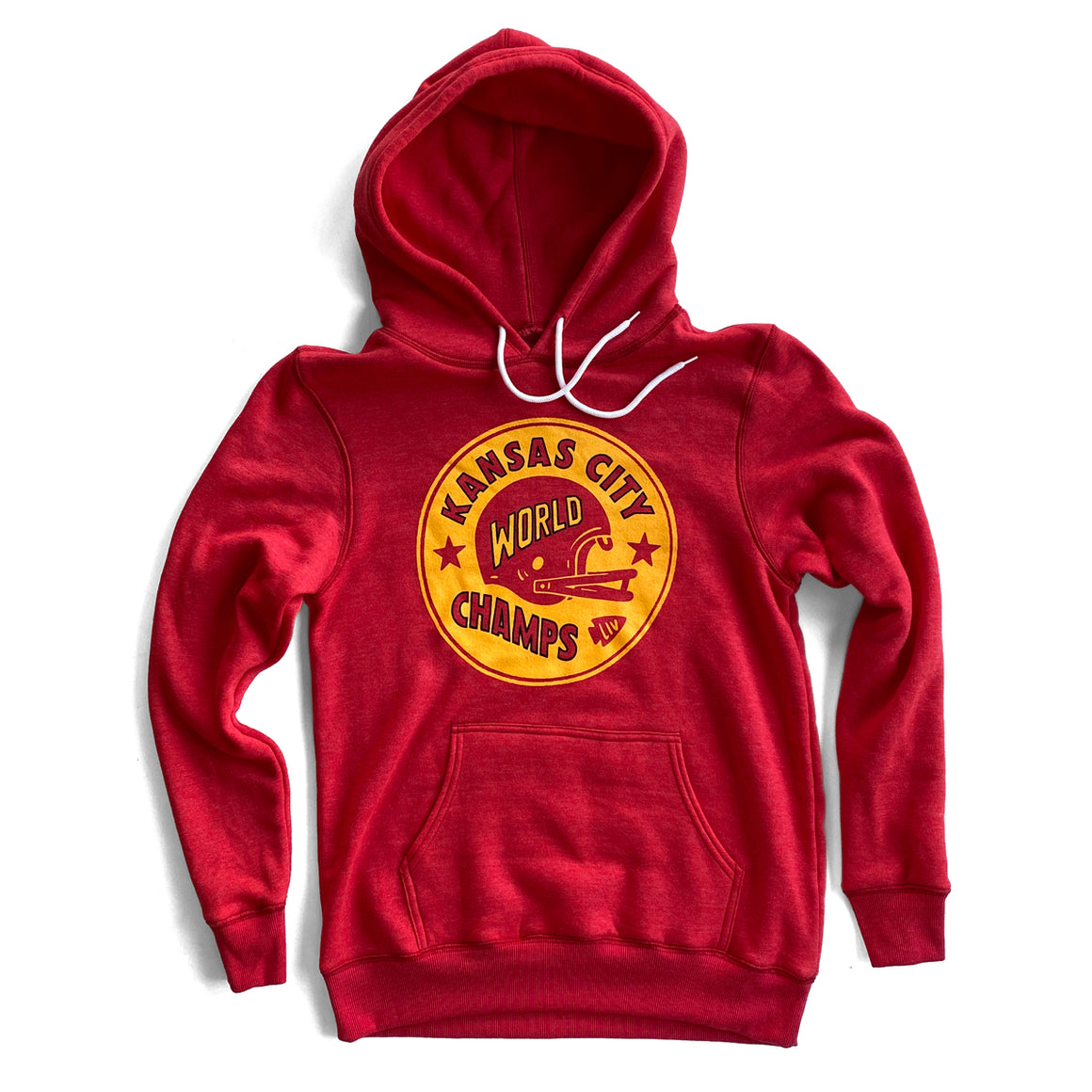 CHARLIE HUSTLE | KANSAS CITY WORLD CHAMPS HOODIE - RED