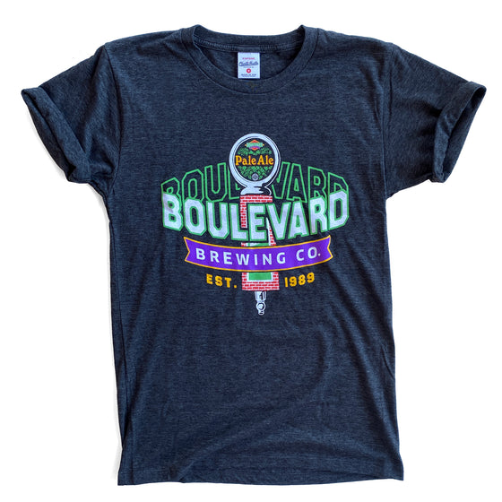 CHARLIE HUSTLE | BOULEVARD TAP HANDLE T-SHIRT - BLACK