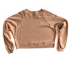 BELLBOY | KC CROP TOP SWEATSHIRT - SAND