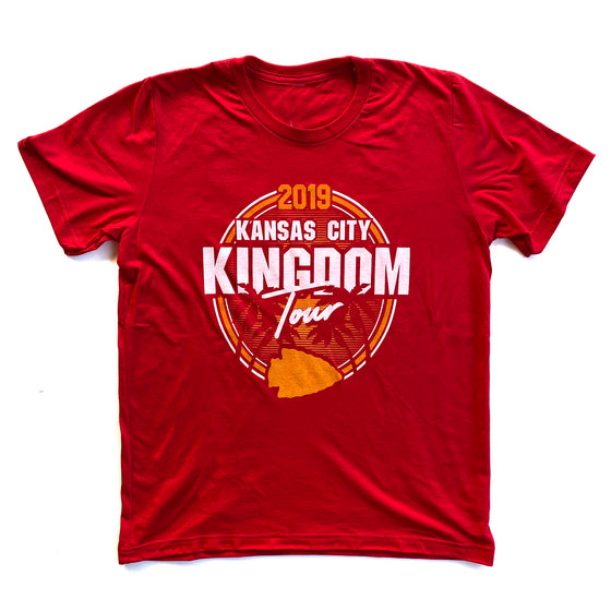 LOYALTY KC | KINGDOM TOUR T-SHIRT - RED