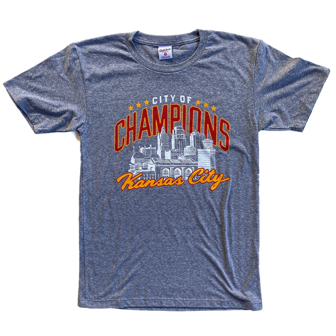 CHARLIE HUSTLE | CITY OF CHAMPIONS T-SHIRT - GREY