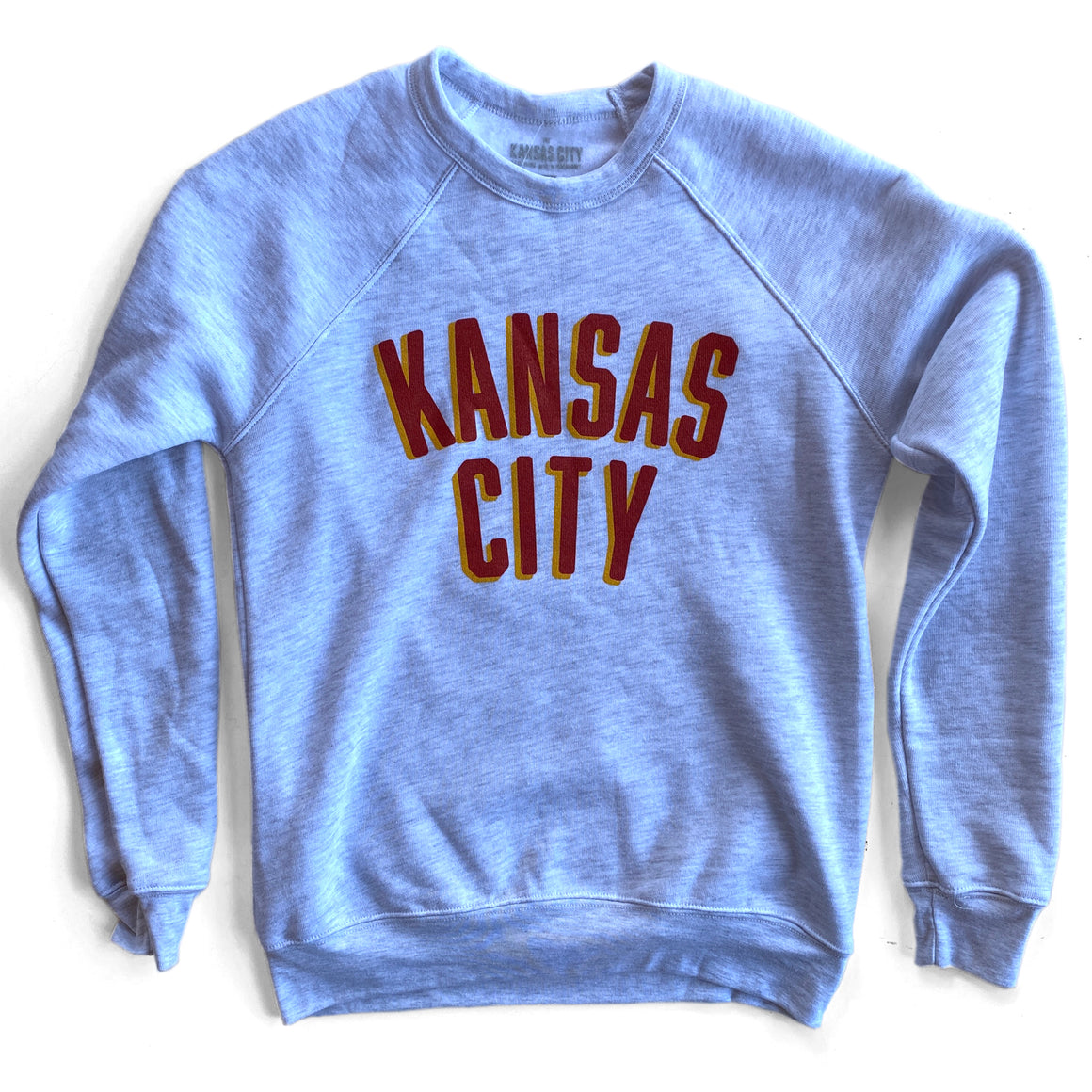 KC CLOTHING | KANSAS CITY RED & YELLOW SWEATSHIRT - ASH