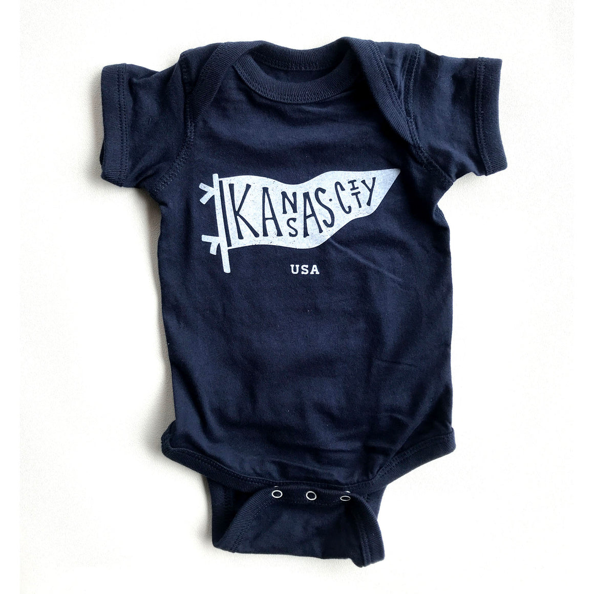 BELLBOY | KC PENNANT NAVY | ONESIE