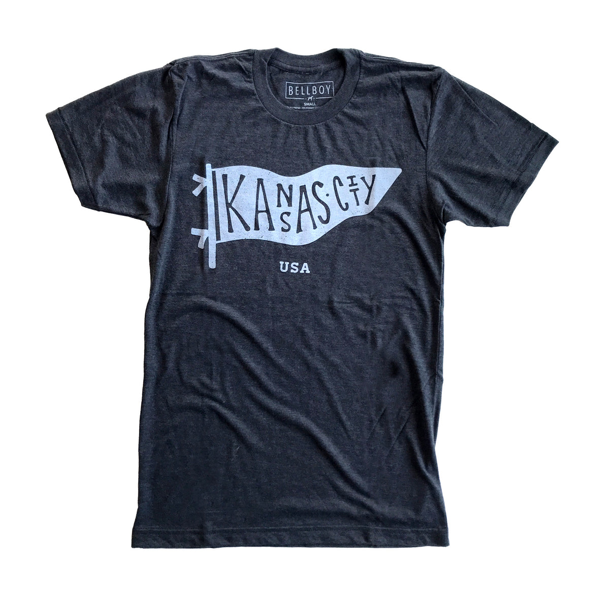 BELLBOY | KC PENNANT T-SHIRT - CHARCOAL