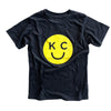 BELLBOY | KIDS KC SMILEY T-SHIRT - CHARCOAL