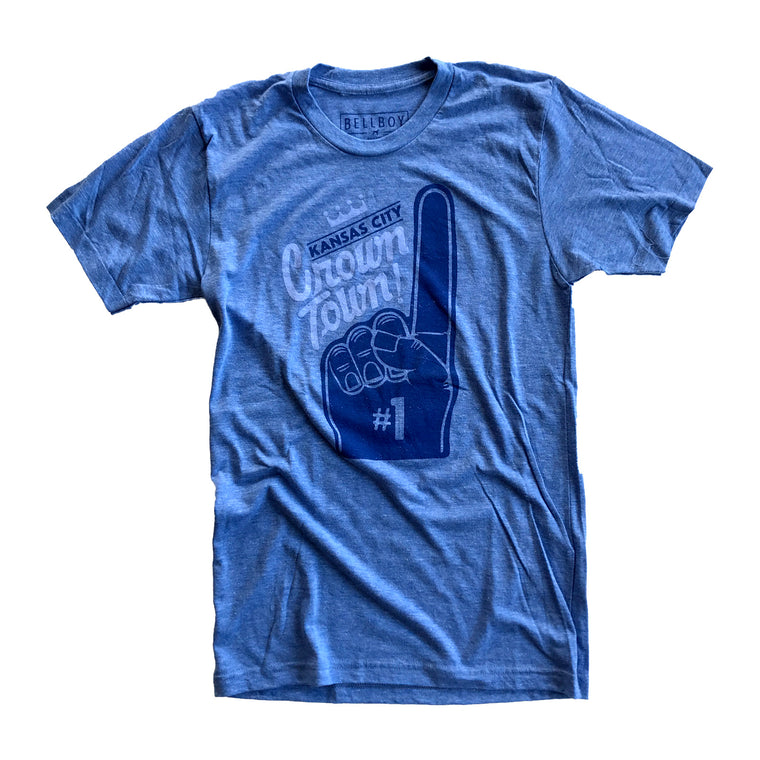 BELLBOY | CROWN TOWN T-SHIRT - HEATHER BLUE