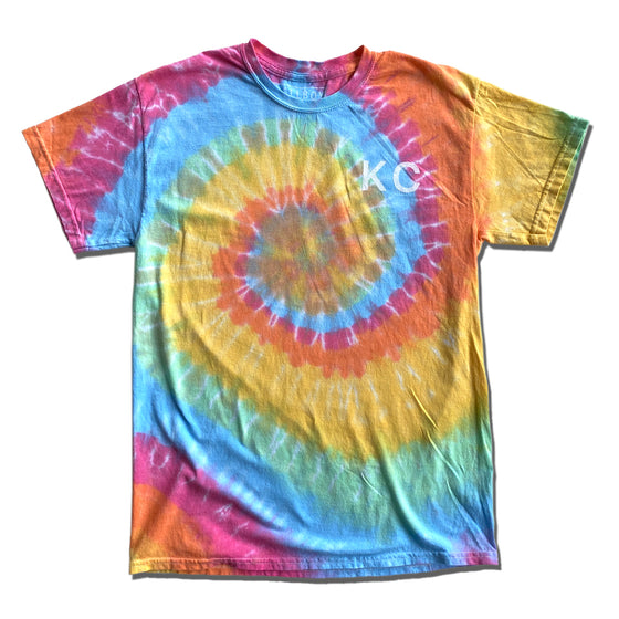 BELLBOY | KC RAINBOW TIE DYE T-SHIRT - LIGHT