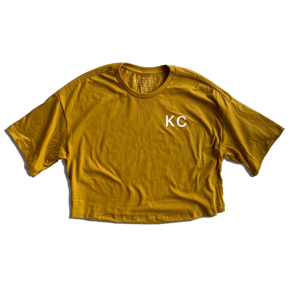 BELLBOY | KC CROP TOP T-SHIRT - MUSTARD