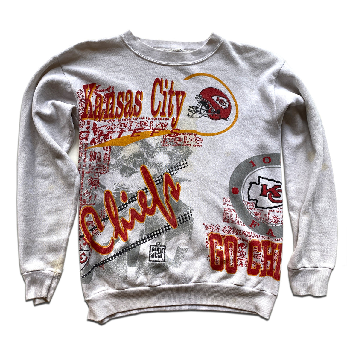 WESTSIDE STOREY VINTAGE | SURF CLUB KC CHIEFS ALL OVER PRINT SWEATSHIRT