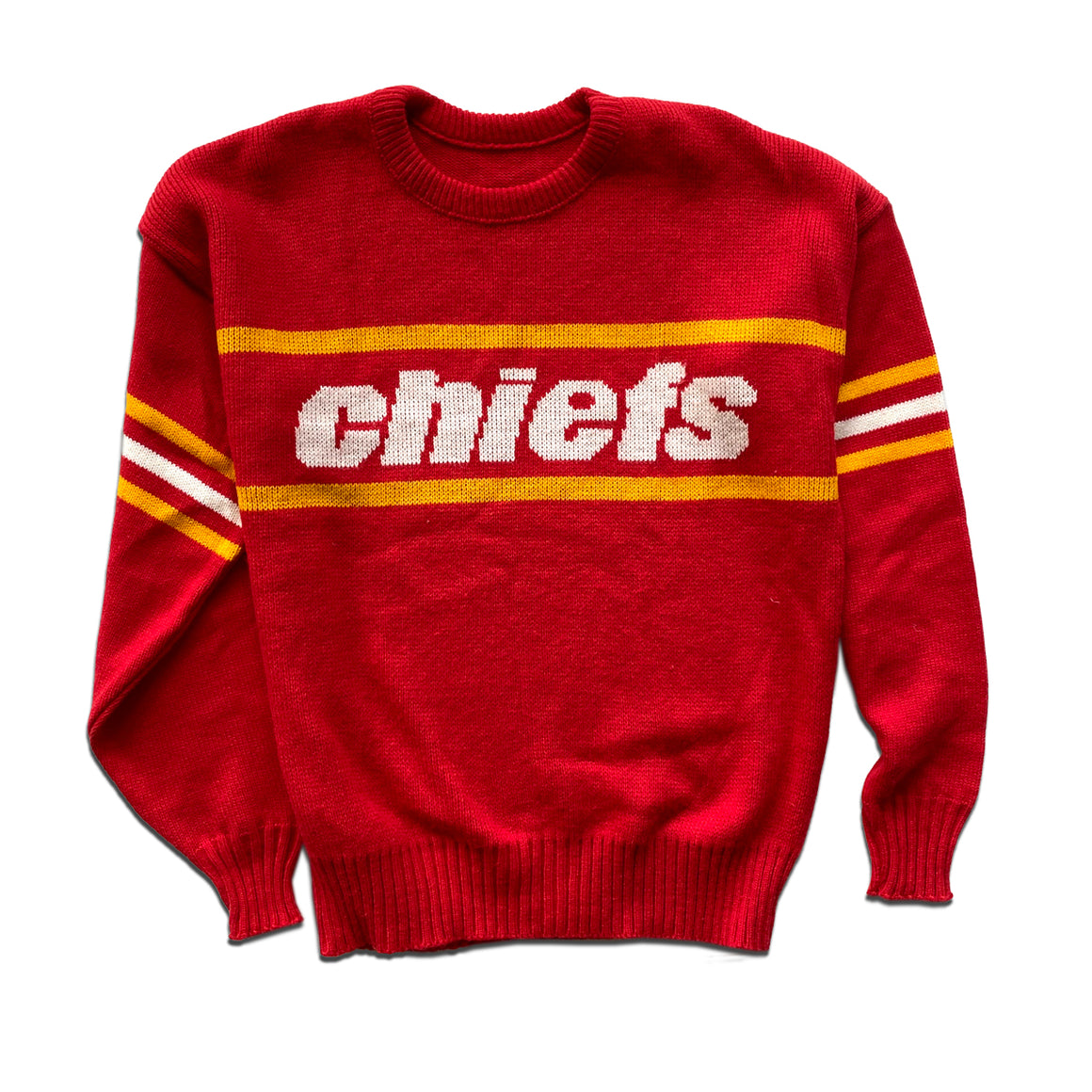 WESTSIDE STOREY VINTAGE | CLIFF ENGLE KC CHIEFS KNIT SWEATER