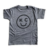 BELLBOY | KIDS KC SMILEY T-SHIRT - GREY