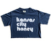 1KC | KC HONEY | WOMENS CROP TOP | NAVY