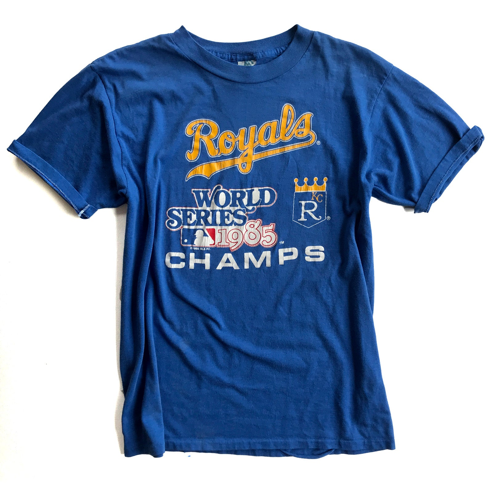 low priced 5be45 e9b29 WESTSIDE STOREY VINTAGE | 1985 WORLD SERIES CHAMPIONS KANSAS CITY ROYALS  T-SHIRT