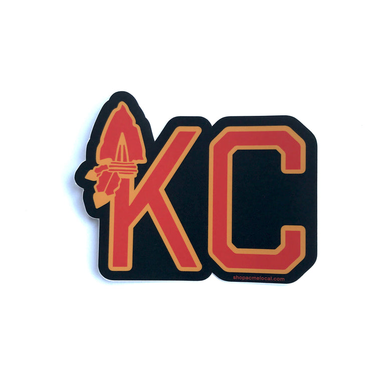 ACME LOCAL | KC ARROWHEAD BLACK DECAL