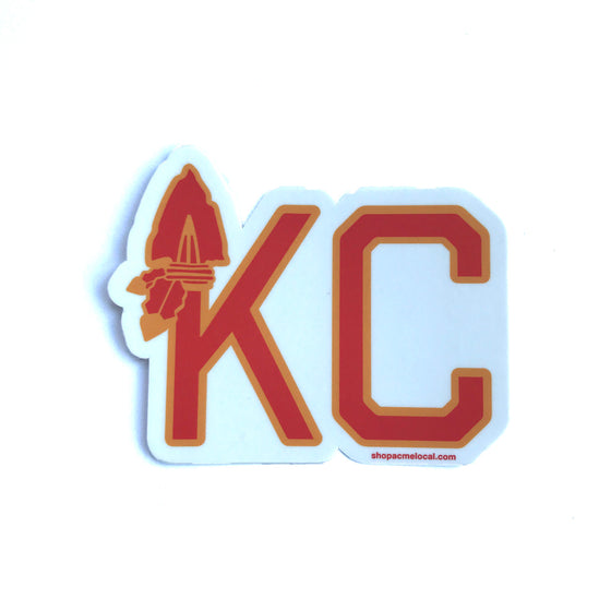 ACME LOCAL | KC ARROWHEAD STICKER - WHITE