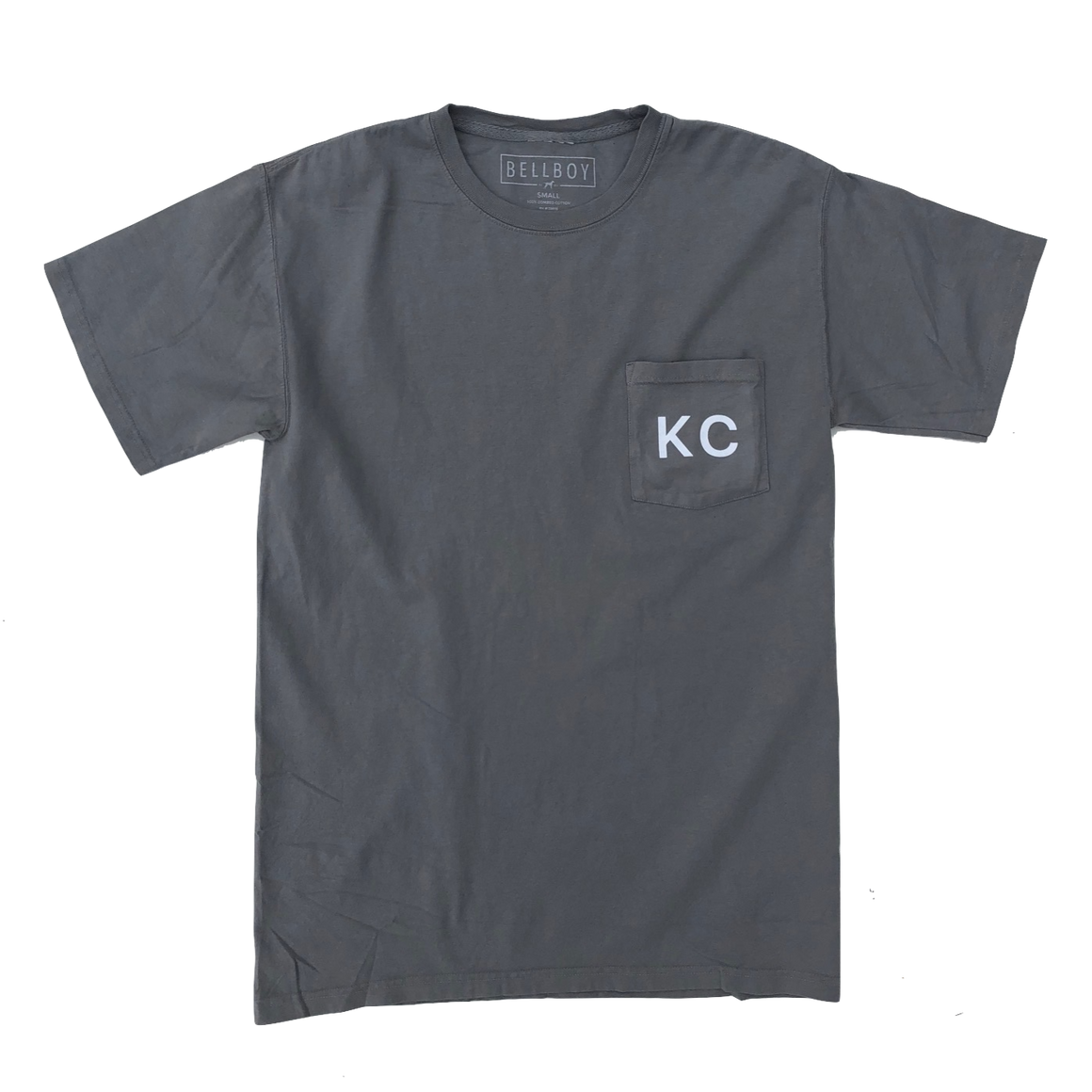 BELLBOY | KC POCKET T-SHIRT - CONCRETE GREY