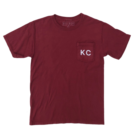 BELLBOY | KC POCKET T-SHIRT - CAYENNE