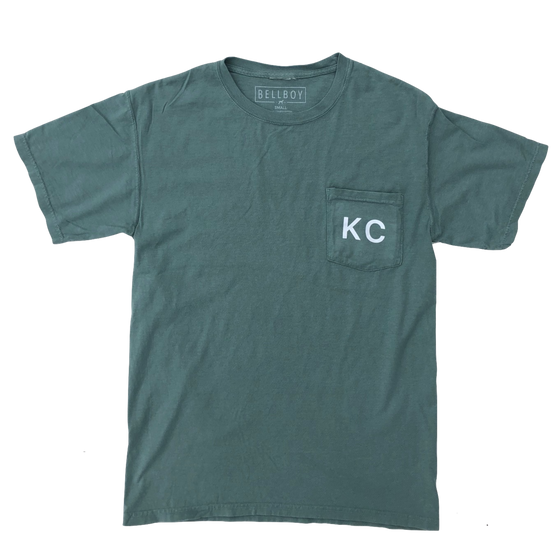 BELLBOY | KC POCKET T-SHIRT - CYPRESS GREEN