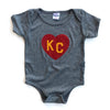CHARLIE HUSTLE | KINGDOM KC HEART | ONESIE | GREY/RED/YELLOW