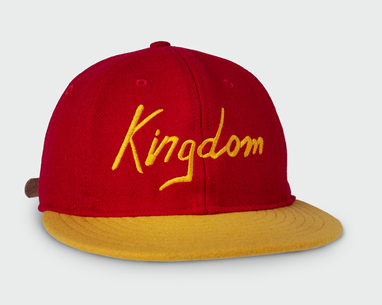 SANDLOT | KINGDOM VINTAGE FLATBILL HAT - RED & YELLOW
