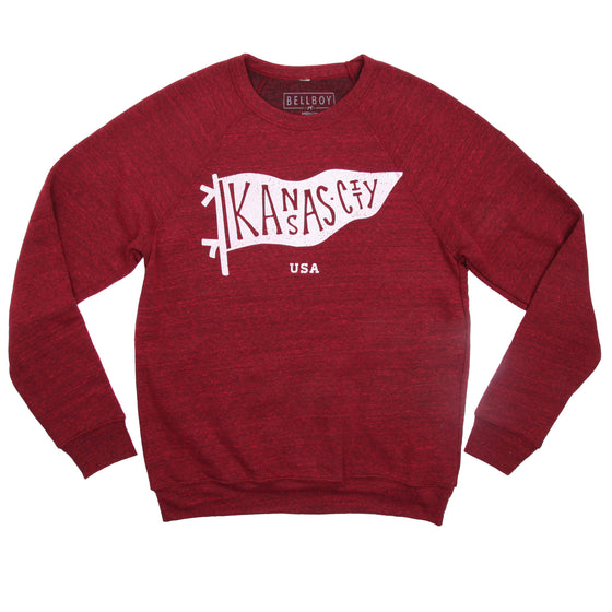BELLBOY | KC PENNANT SWEATSHIRT BERRY