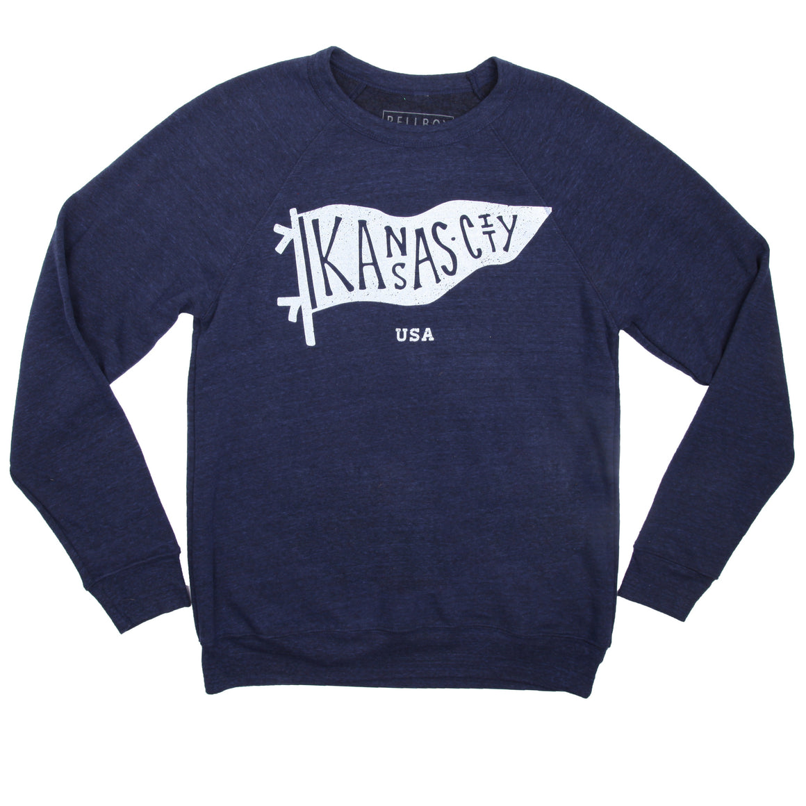 BELLBOY | KC PENNANT SWEATSHIRT NAVY