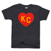 CHARLIE HUSTLE | KIDS ARROWHEAD KC HEART T-SHIRT