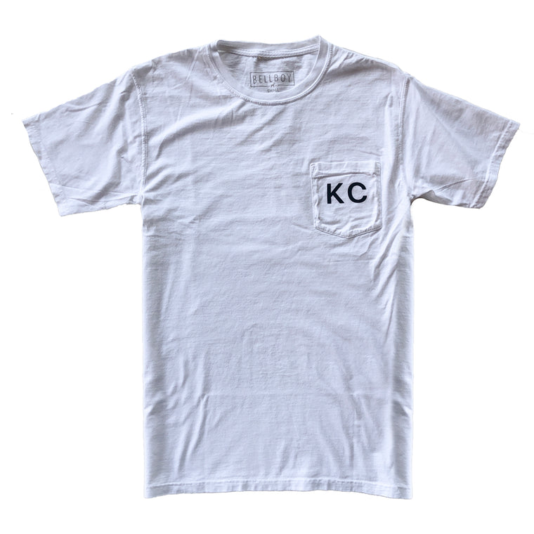BELLBOY | KC POCKET T-SHIRT - WHITE
