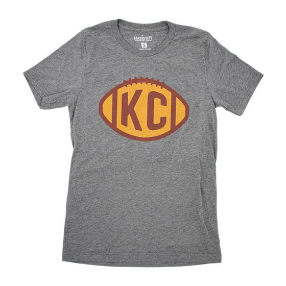 KC CLOTHING | VINTAGE KC FOOTBALL T-SHIRT - DEEP HEATHER