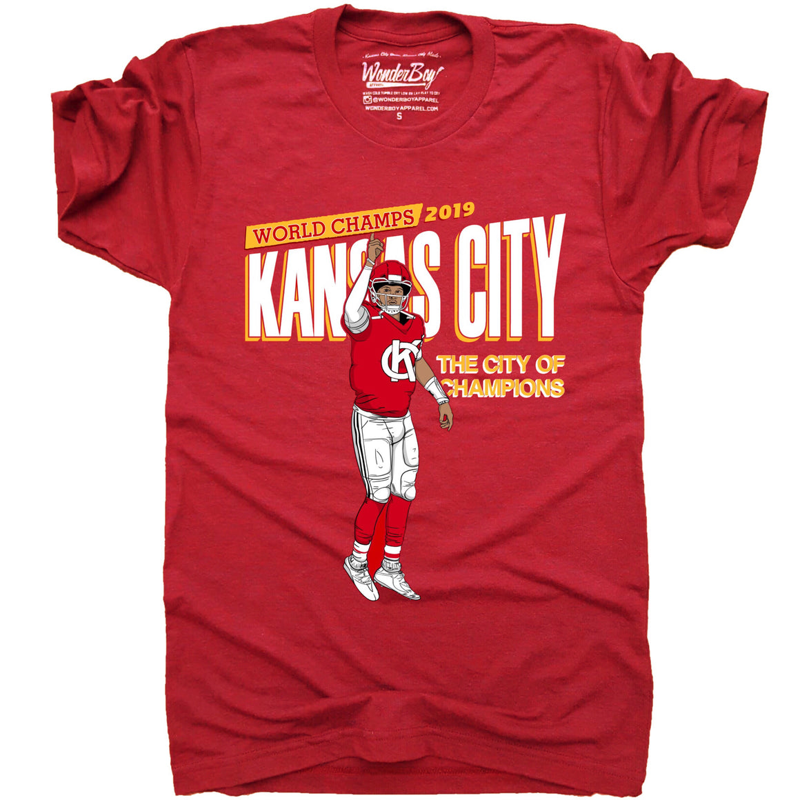 WONDERBOY APPAREL | KC CHAMPS T-SHIRT - RED