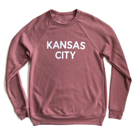 BELLBOY | SIMPLE KANSAS CITY SWEATSHIRT - MAUVE