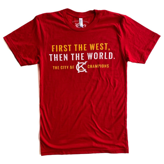 1853 | FIRST IN THE WEST T-SHIRT - RED