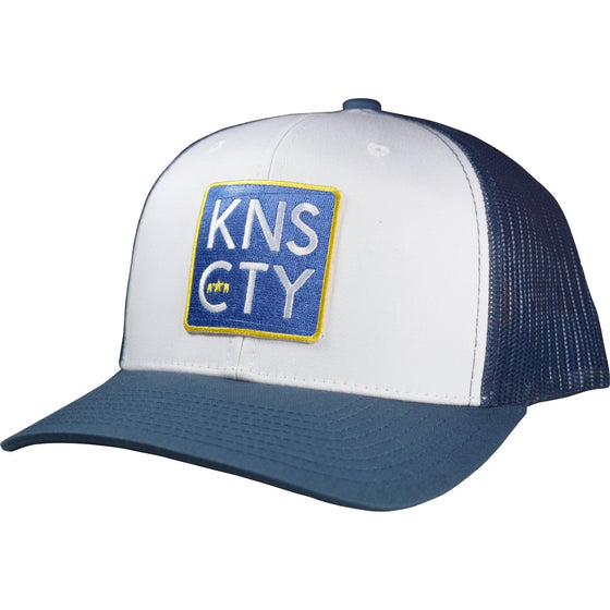 THE KNS CTY | CLASSIC TRUCKER | WHITE/ROYAL