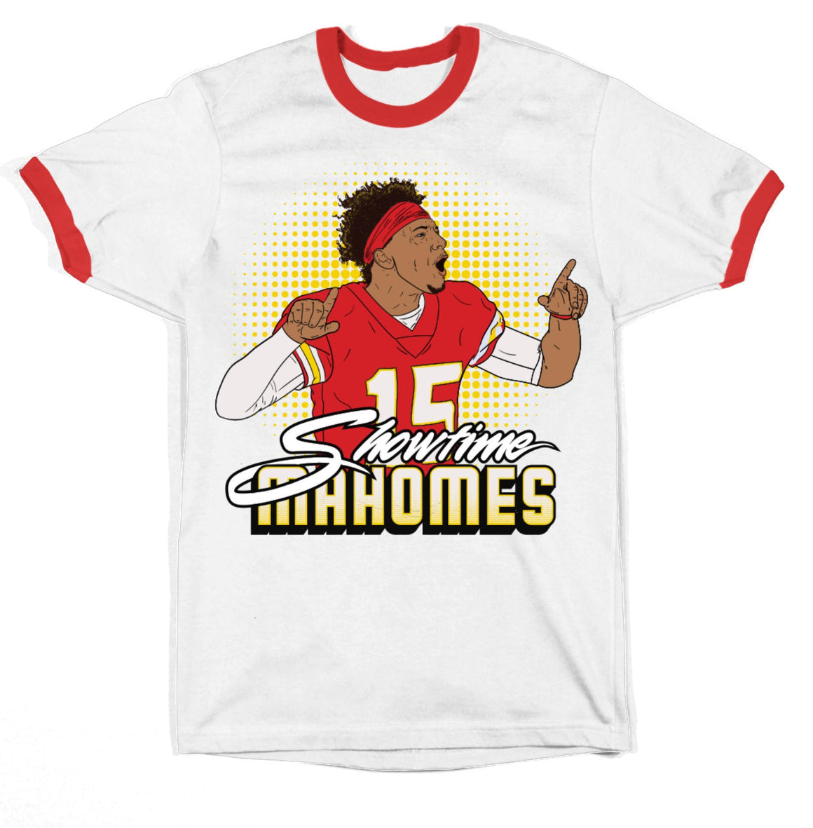 BELLBOY | SHOWTIME MAHOMES T-SHIRT - WHITE/RED