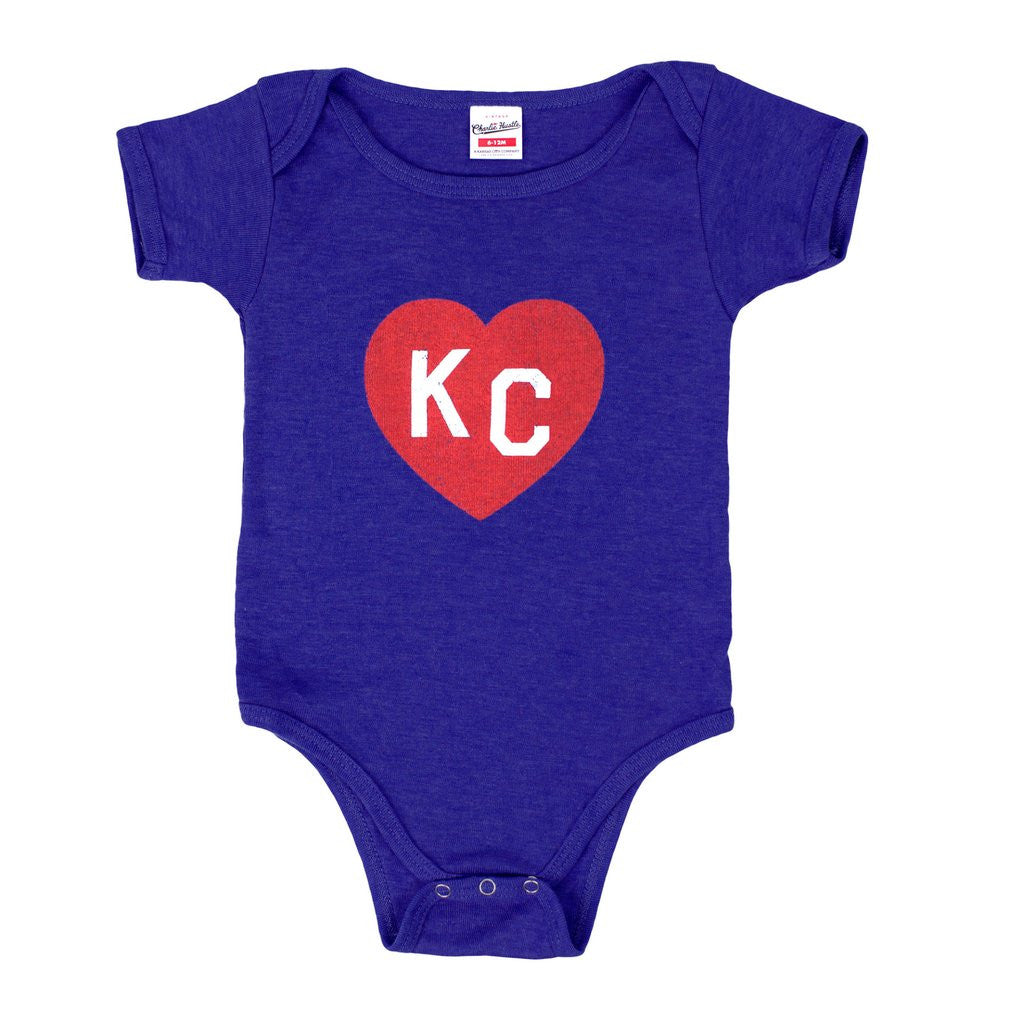 KC HEART | ONESIE | NAVY