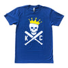 COMMANDEER BRAND | CROSSED BATS T-SHIRT - ROYAL BLUE