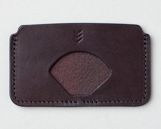 SANDLOT WALLETS | CARD SLEEVE | DARK BROWN