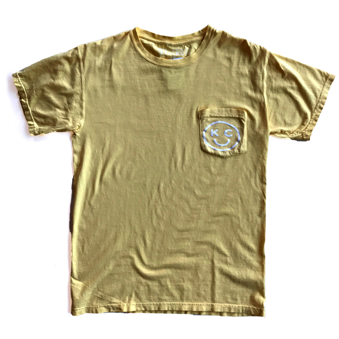 BELLBOY | KC SMILEY POCKET T-SHIRT - SUMMER SQUASH YELLOW