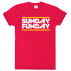 CHARLIE HUSTLE | SUNDAY FUNDAY T-SHIRT - RED