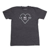 OCEAN & SEA | LA  KC  NY HEART - CHARCOAL