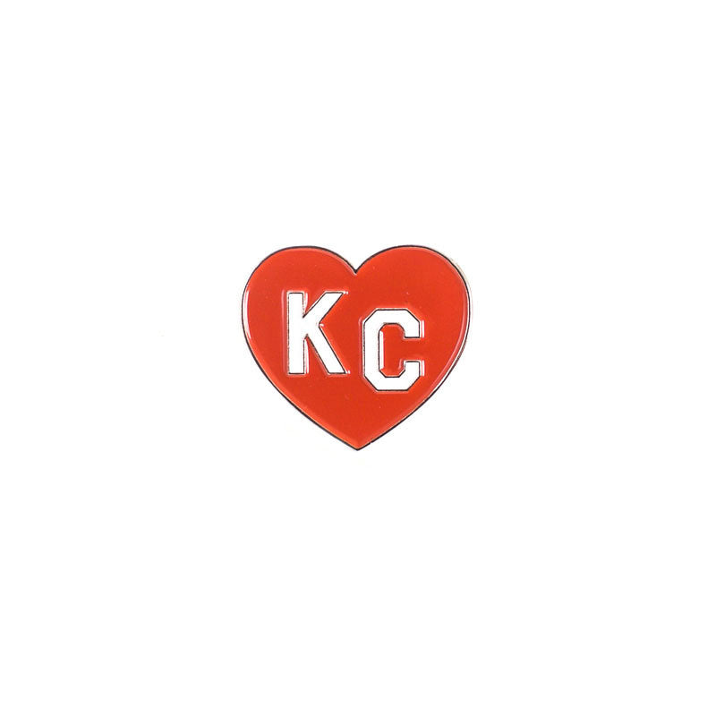 CHARLIE HUSTLE | KC HEART ENAMEL PIN - RED