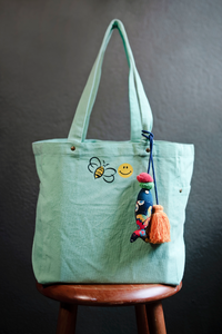"The Shopper ""Bee Happy"" Bag"