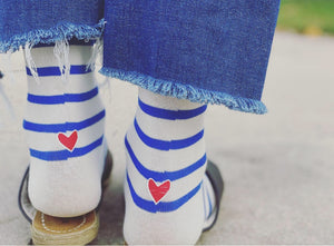 """With Love"" Classic Striped Socks"